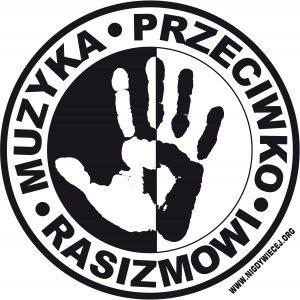 logo ''MPR'', biale
